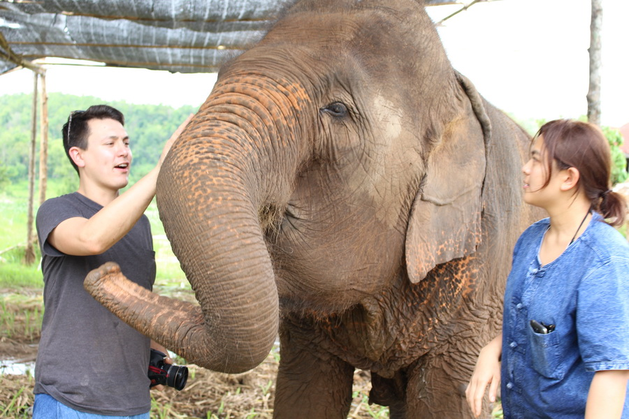 Elephant Care Giving classes in the jungle of Ban Sob Win, Thailand outside of Chiang Mai